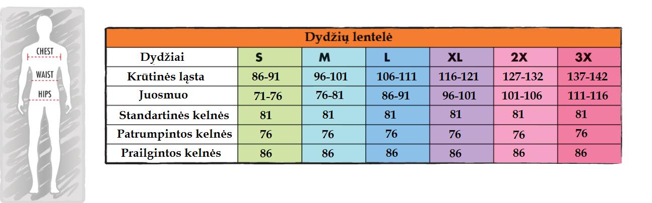 VYR DYDZIU LENTELE
